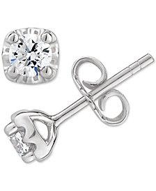 Certified Diamond Stud Earrings (1/2 ct. t.w.) in 14k White, Yellow or Rose Gold
