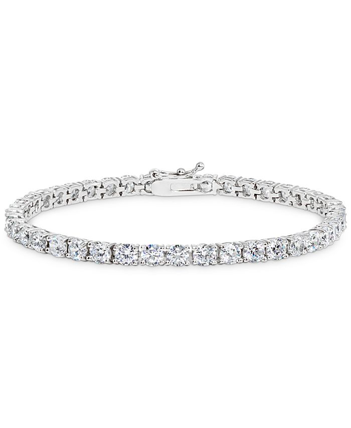 Giani Bernini - Cubic Zirconia Tennis Bracelet in Sterling Silver (Also available in 18k gold over silver)