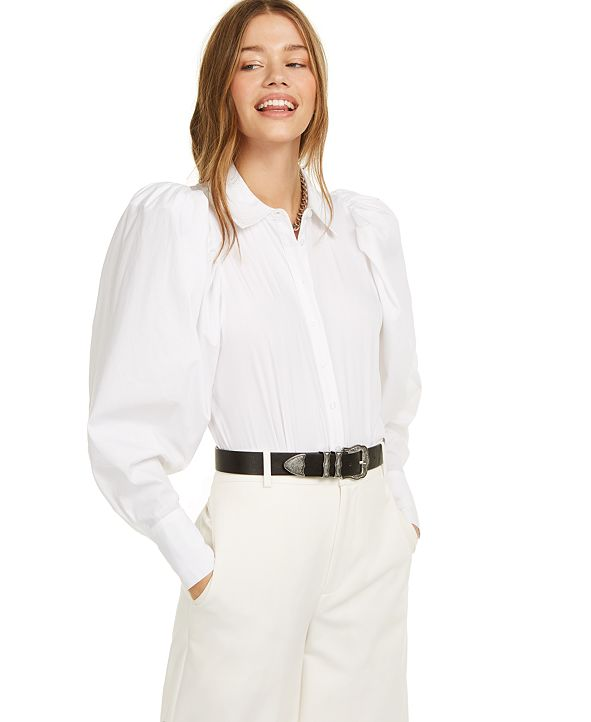 Danielle Bernstein Puff Sleeve Bodysuit, Created for Macy's