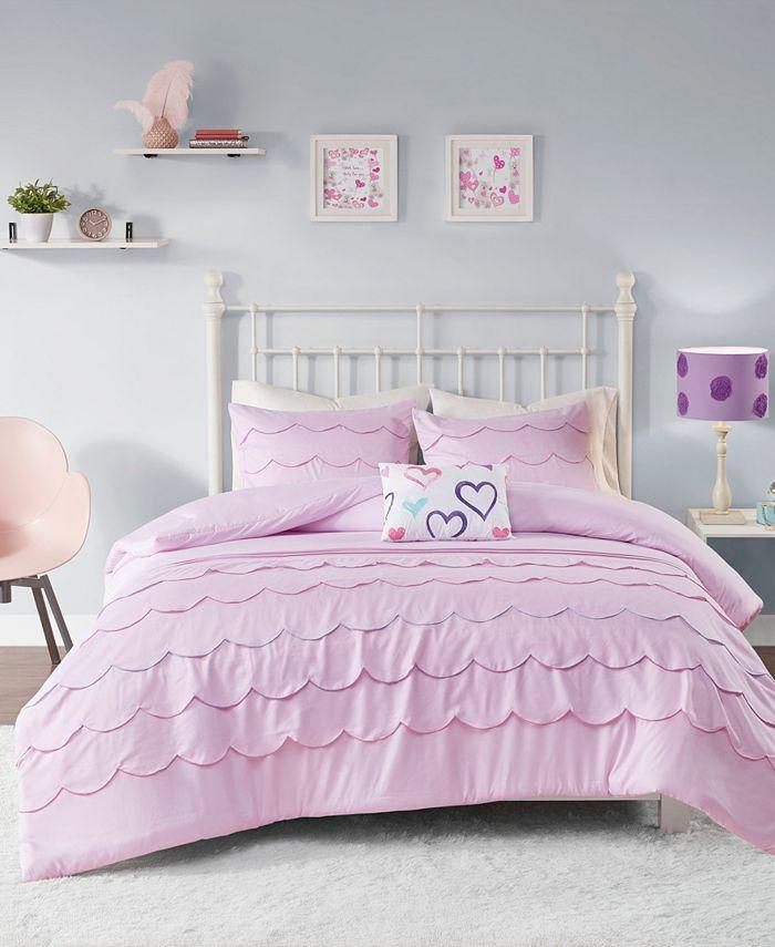 Mi Zone - Sophia Scalloped 3-Piece Twin/Twin XL Comforter Set