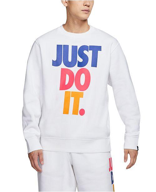 Nike Men's Sportswear Just Do It Fleece Sweatshirt & Reviews