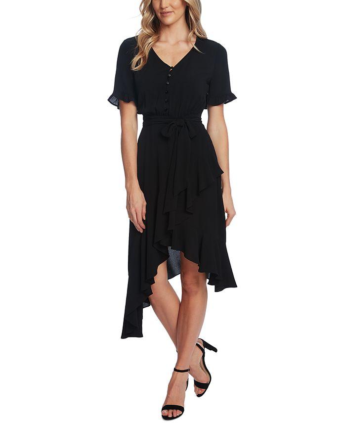 CeCe - Cascading Belted Dress