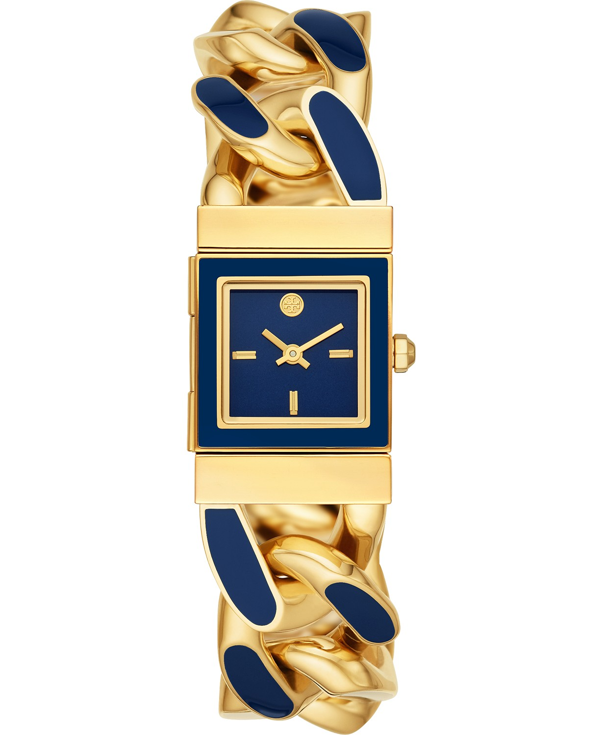 Tory Burch Women's Tilda Blue & Gold-Tone Stainless Steel Bracelet Watch $197.50 (50% off)