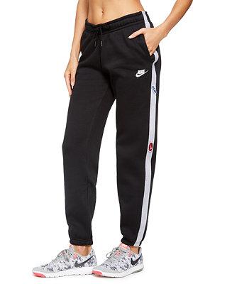 Nike Women's Sportswear Logo Fleece Pants & Reviews ...