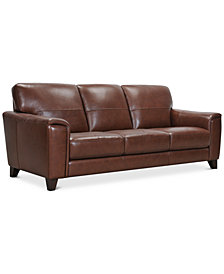 "Brayna 88"" Leather Sofa, Created for Macy's"