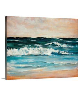 """20 in. x 16 in. """"Ocean Light II"""" by  Sydney Edmunds Canvas Wall Art"""