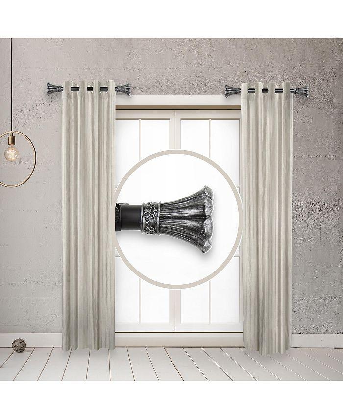 "Rod Desyne - Blossom 1"" Side Curtain Rod 12-20 inch (Set of 2)"