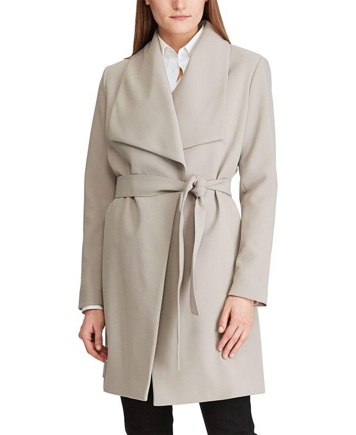 Lauren Ralph Lauren - Belted Crepe Coat