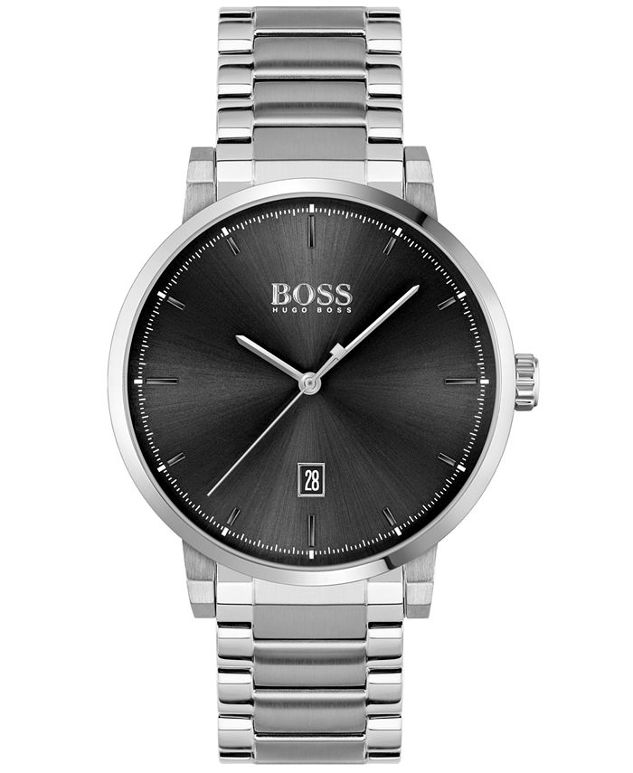 BOSS - Men's Confidence Stainless Steel Bracelet Watch 42mm