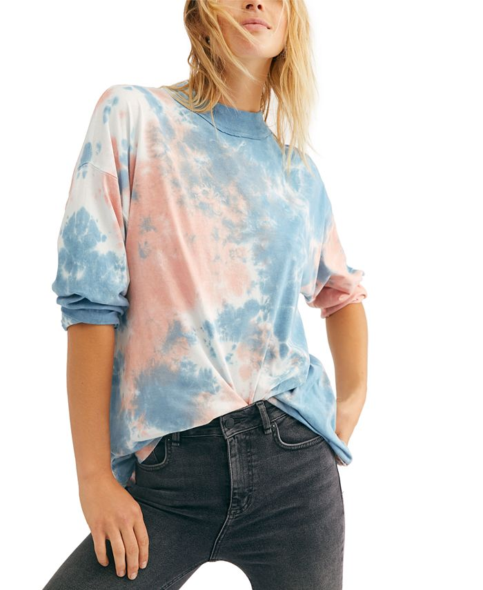 Free People - Be Free Cotton Tie-Dyed T-Shirt