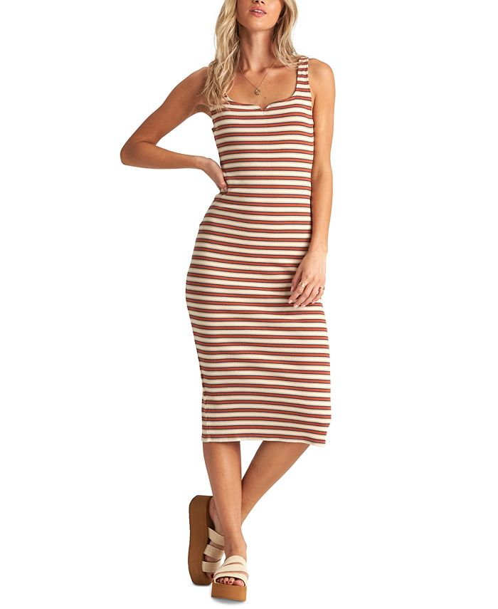 Billabong - Juniors' Night Magic Striped Midi Dress
