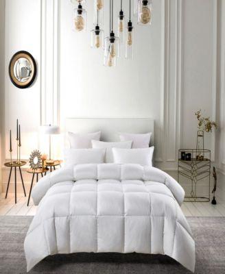 Light Warm White Down Fiber Comforter Full/Queen
