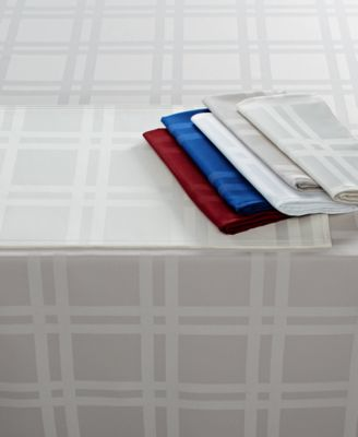 "Martha Stewart Table Linens, Skylight Plaid 70"" Round"