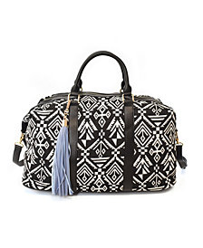 Imoshion Handbags Printed Weekender with Removable/Adjustable Long Strap