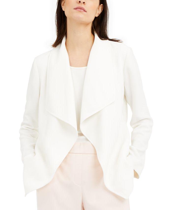Alfani - Draped Jacquard Jacket
