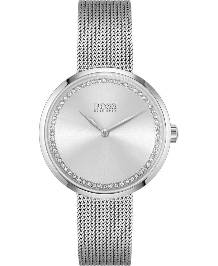 BOSS - Women's Praise Stainless Steel Mesh Bracelet Watch 36mm
