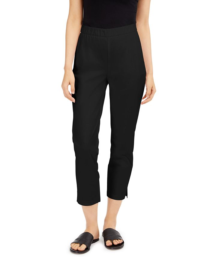 Eileen Fisher - Twill Pull-On Ankle Pants