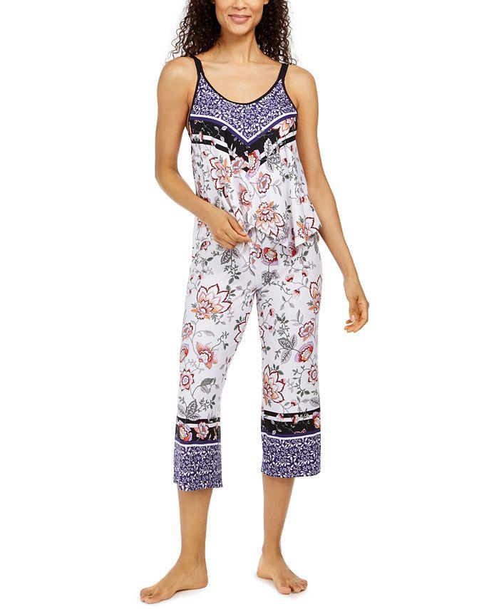 Linea Donatella - Mixed-Print Cropped Pajama Pants Set