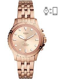 Fossil Women's FB-01 Rose Gold-Tone Stainless Steel Bracelet Hybrid Smart Watch 36mm