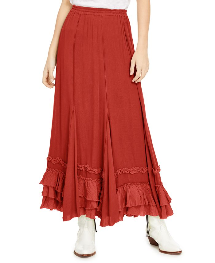 Free People - Cypress Ruffle Maxi Skirt