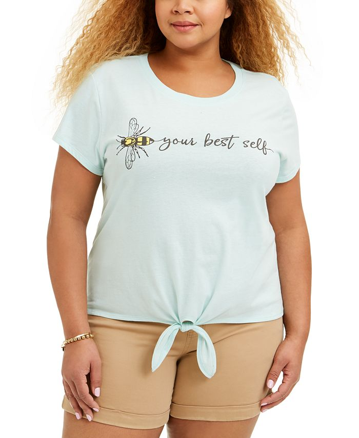 Love Tribe - Trendy Plus Size Bee-Print T-Shirt