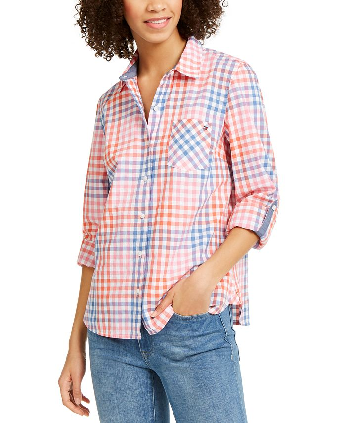 Tommy Hilfiger - Check-Print Button-Up Shirt