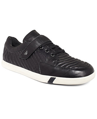 Sale alerts for  Armani Jeans Quilted Leather Low Top Sneakers - Covvet