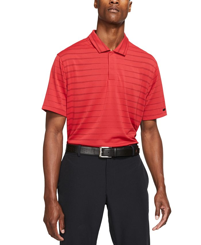 Nike Men's Tiger Woods Dri-FIT Striped Golf Polo & Reviews - Polos ...