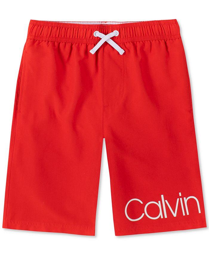 Calvin Klein - Big Boys Signature Swim Trunks