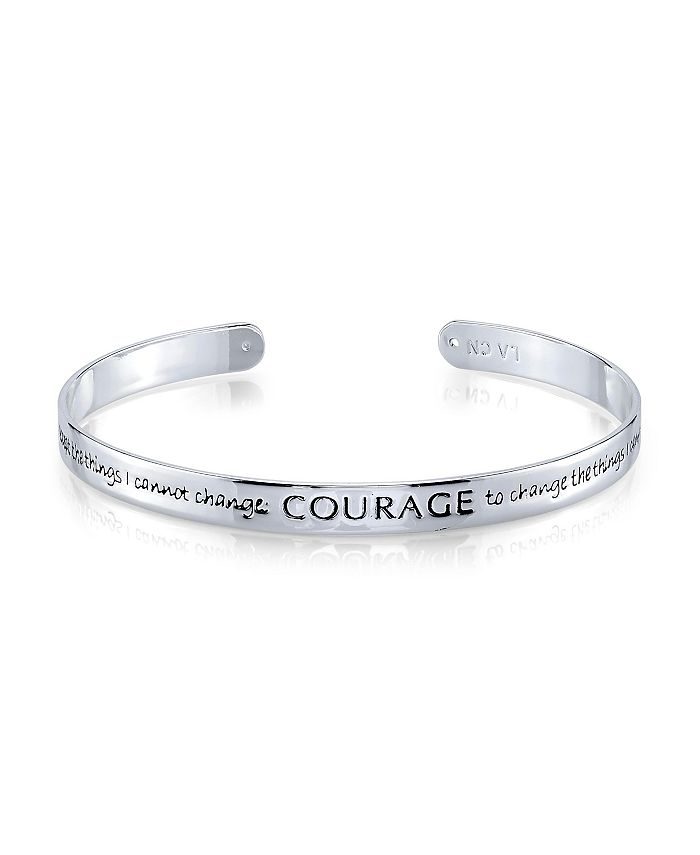 "Unwritten - Fine Silver Plated ""Courage"" Cuff Bracelet"