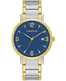 Caravelle Men's Two-Tone Stainless Steel Bracelet Watch 39mm