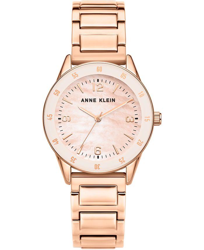 Anne Klein - Women's Rose Gold-Tone Bracelet Watch 33mm