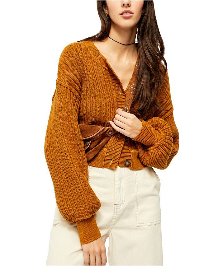 Free People - All Yours Cropped Cotton Cardigan