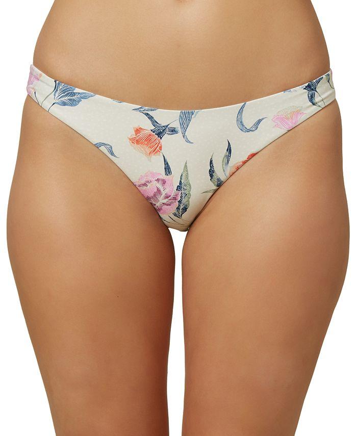 O'Neill - Juniors' Batik Floral Classic Hipster Bikini Bottoms