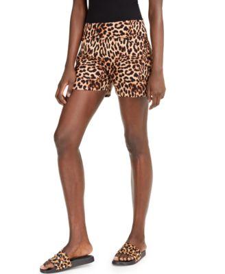 INC Cheetah Shorts, Created for Macy