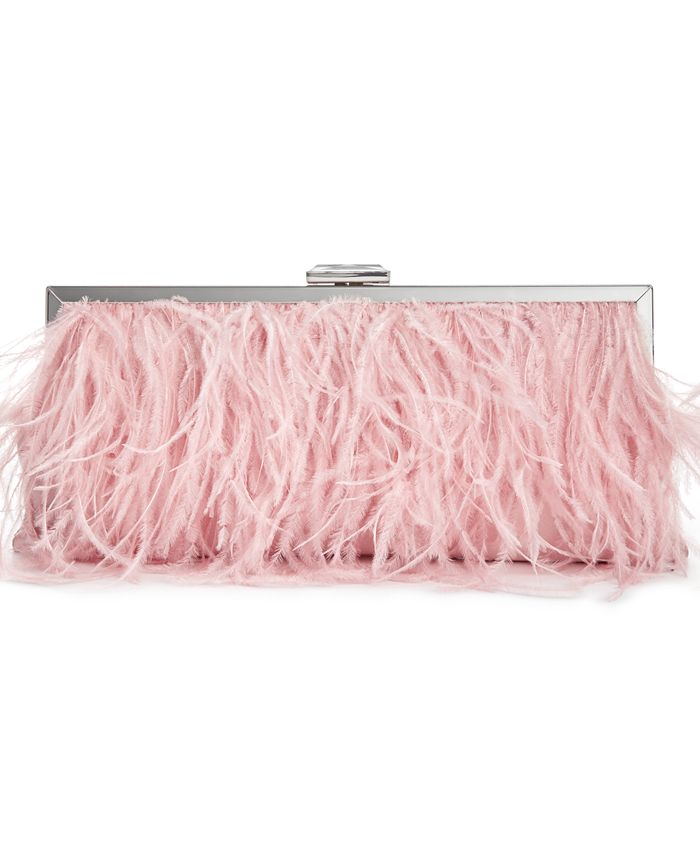 INC International Concepts - Elongated Feather Pouch Clutch