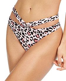 SUNDAZED Printed Strappy-Waist Bikini Bottoms, Created for Macy's