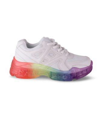 Rainbow Sole Detail Sporty Sneaker