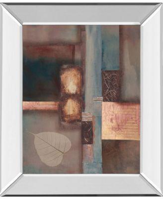 Fall I W/Leaf by Laurie Fields Mirror Framed Print Wall Art, 22