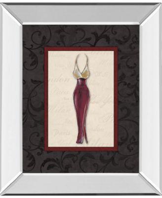 Fashion Dress I by Susan Osbourne Mirror Framed Print Wall Art, 22