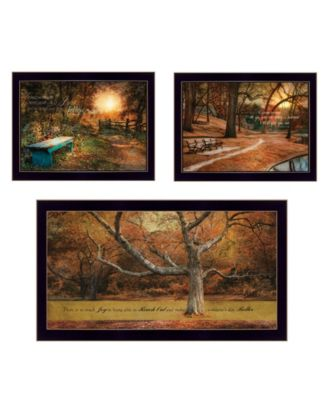 Tranquil Spaces 3-Piece Vignette by Robin-Lee Vieira, White Frame, 32