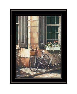 Picnic Getaway by John Rossini, Ready to hang Framed Print, White Frame, 15