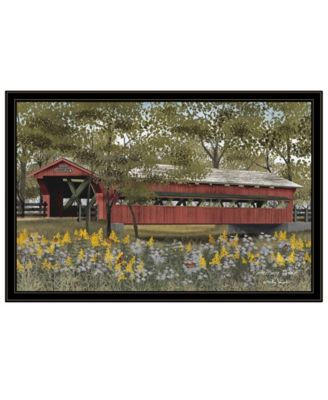 Pottersburg Bridge by Billy Jacobs, Ready to hang Framed Print, White Frame, 27