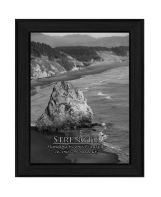 Strength By Trendy Decor4U, Printed Wall Art, Ready to hang, White Frame, 14