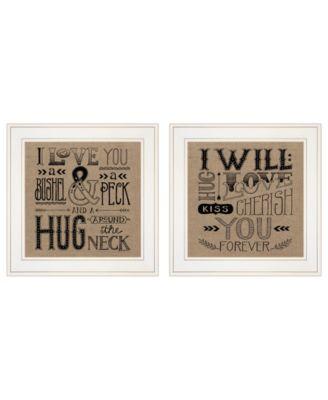 Hugs / Forever 2-Piece Vignette by Deb Strain, Black Frame, 15