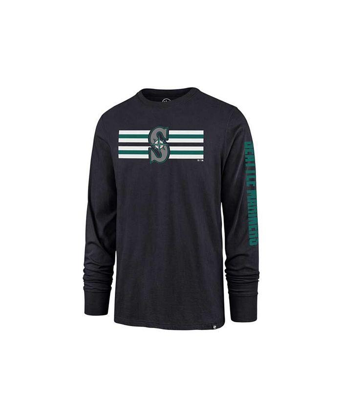 '47 Brand - Seattle Mariners Men's Cross Stripe Long Sleeve T-Shirt