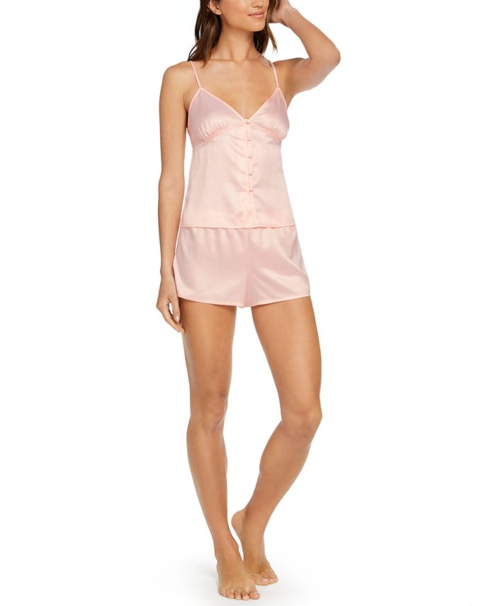 INC International Concepts - Button-Front Cami & Shorts Pajamas Set