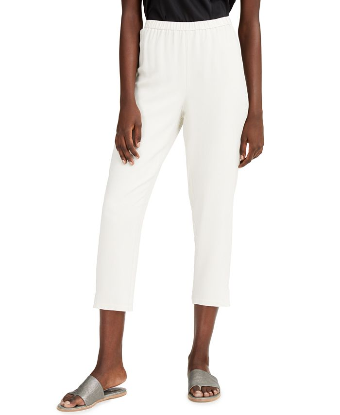 Eileen Fisher - Silk Tapered Pants