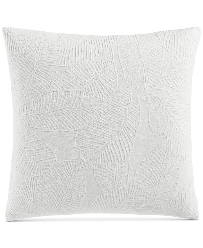 """Charter Club - Damask Designs Woven Leaves 258-Thread Count 18"""" x 18"""" Decorative Pillow"""