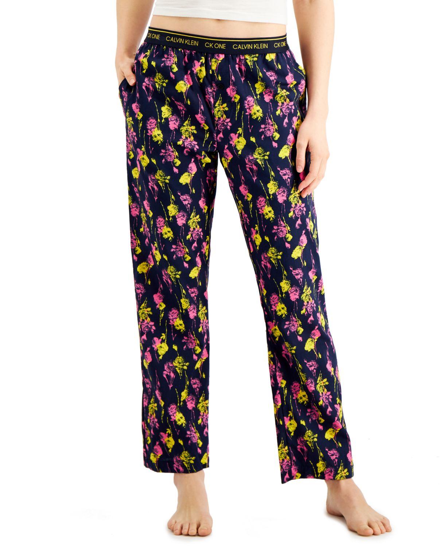 Calvin Klein CK One Printed Cotton Pajama Pants & Reviews - Bras, Panties & Lingerie - Women - Macy's